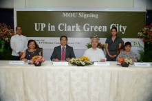 BCDA-UP MOU Signing - UP in Clark Green City